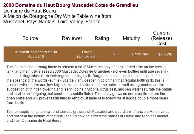 article-wine-advocate-muscadet-2000 | DOMAINE DU HAUT BOURG