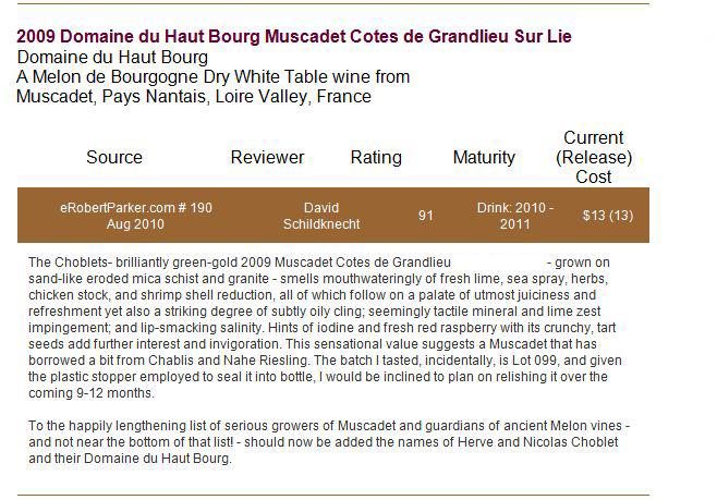 article-wine-advocate-muscadet-2009 | DOMAINE DU HAUT BOURG